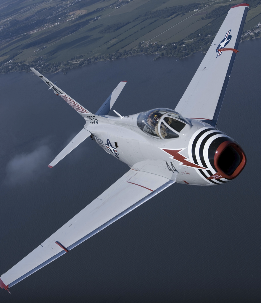 MiG Fury Fighters' FJ-4B Fury in Flight (Image Credit: MiG Fury Fighters)