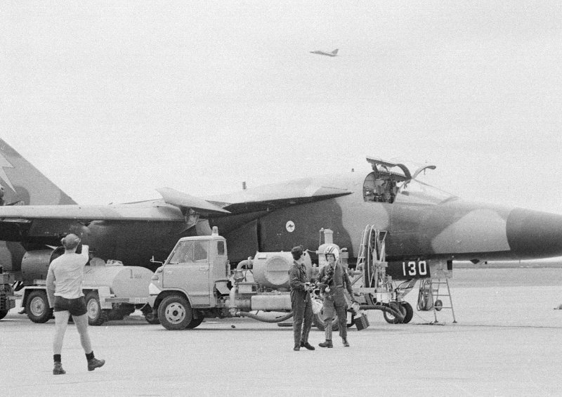 RAAF F-111C early in its career when it still sported a camouflage paint scheme, livery likely to have been restored as part of the restoration project. (Image Credit: RAAF)