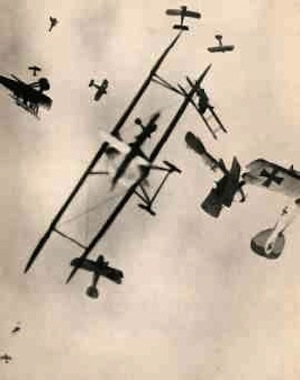 Compelling, yet faked photo of WWI dogfight made quite a stir in the 1930s (Image Credit: Noble Numismatics)
