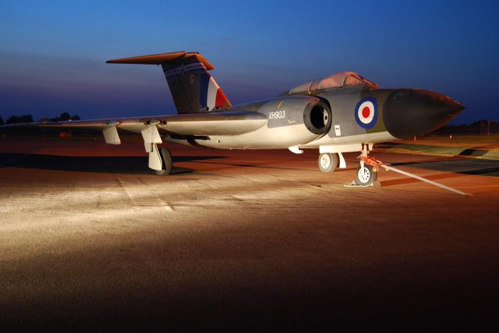 Gloster Javelin on loan from the RAF Museum shortly before its move indoors (Image Credit: Jet Age Museum)