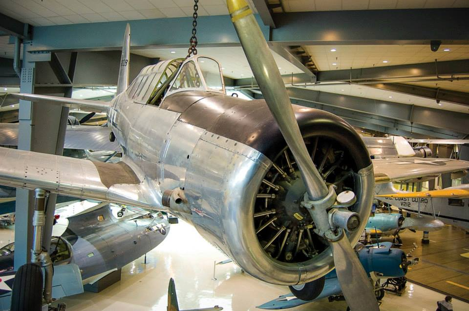 Vultee SNV Valiant  One of the aircraft that served to train an entire generation of naval aviators during World War II, Vultee Aircraft's SNV Valiant provided flight students their first taste of a service-type airplane after many weeks spent in biplane trainers. Weighing 4,360 lb. fully loaded and boasting a top speed of just 182 miles per hour, the airplane had fixed landing gear and a tail held to the aircraft by just three bolts. While the plane was not robust enough to be utilized in aerobatic maneuvers, it was regularly employed in instrument training and formation flying. The aircraft received the moniker 'Vultee Vibrator' because of the way the canopy rattled with the engine running and the shudder that developed in the second and third turn of a spin. With the end of the war in 1945, all of the SNVs were quickly phased out of service. (Image Credit: National Naval Aviation Museum)