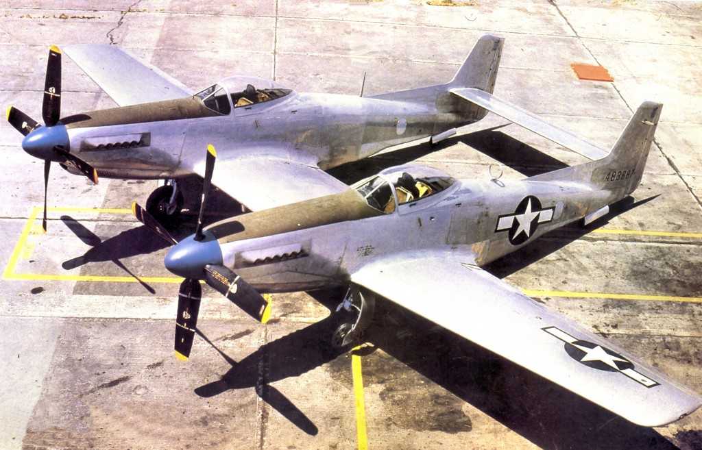 North American XP-82 Twin Mustang 44-83887 in 1945