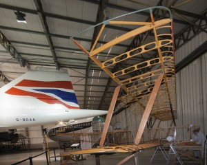 Trial assembly of the Strutter in the museum's Hangar 4. (Image Credit: APSS)