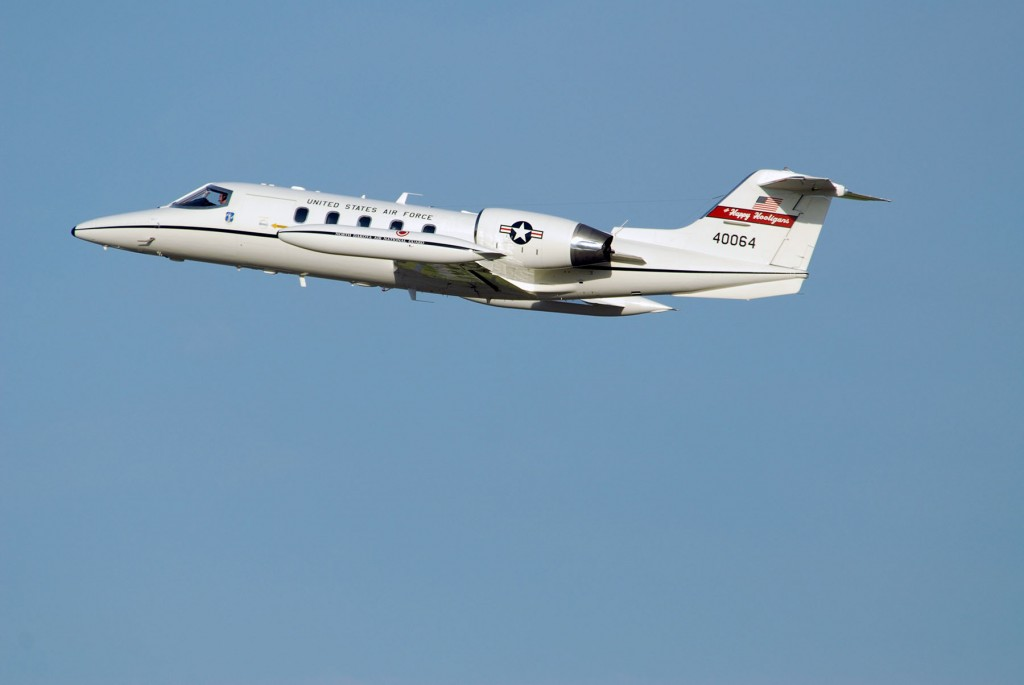 Learjet C-21A 40064, the latest arrival at the National Museum of the US Air Force. (Image Credit: US Air National Guard)