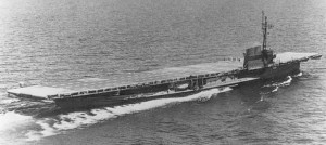 Converted side-wheel excursion steamer, the USS Sable was used as a platform to train aircraft carrier-bound pilots in WWII (Image Credit: Naval Historical Center)