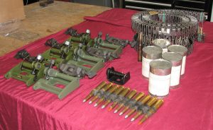 Gun mounts, ready for installation. (Image Credit: XP-82 Restoration Project)