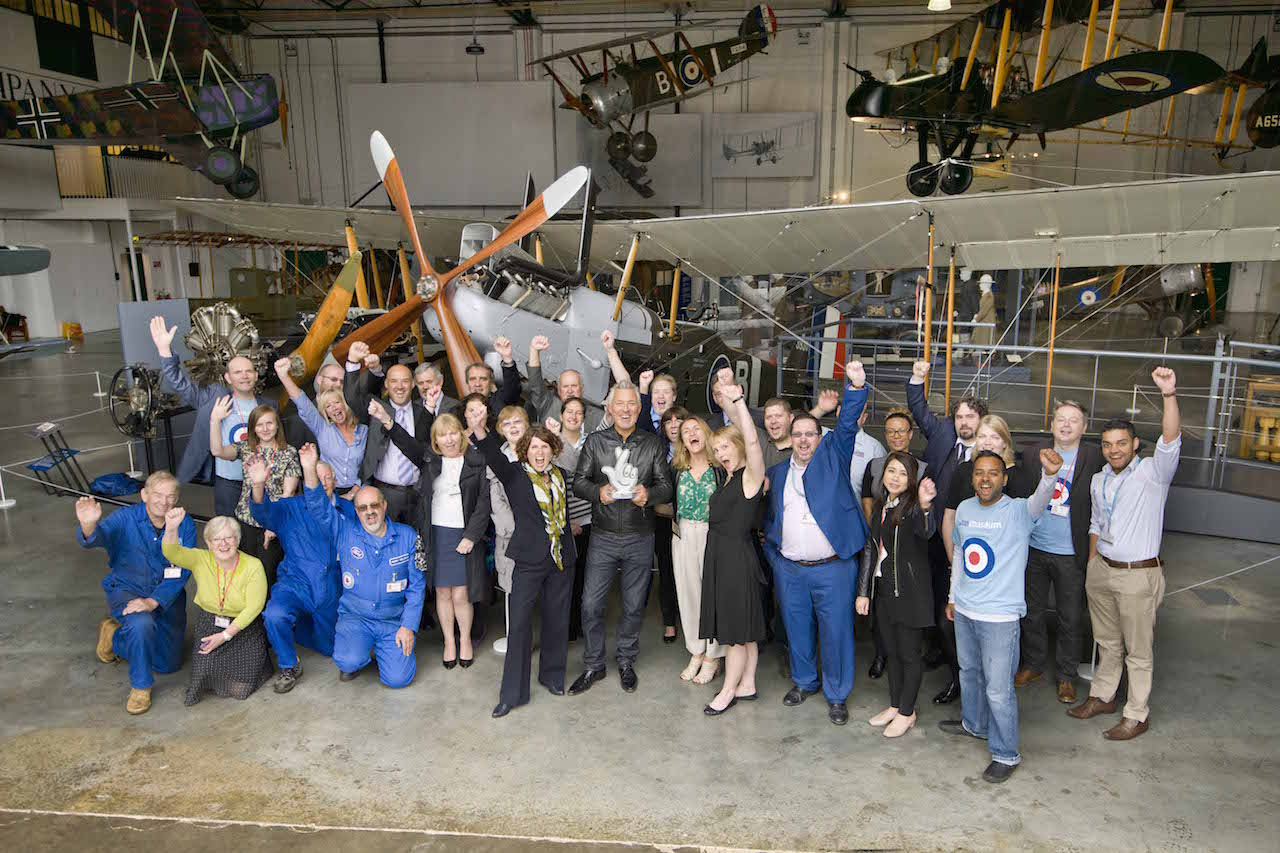 First World War in the Air received  £898,000 of National Lottery funding through the Heritage Lottery Fund ( '©Trustees of the Royal Air Force Museum')