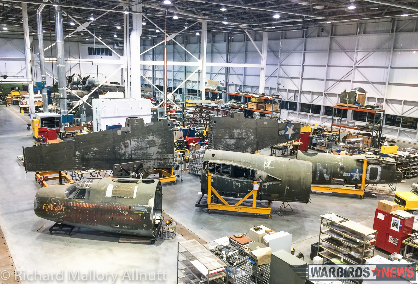 "Martin B-26 Marauder ""Flak Bait"" shown here in a recent image, will be one of the major exhibits visitors to NASM's Open House on January 30th will get to see up close and personal. (photo by Richard Mallory Allnutt)"
