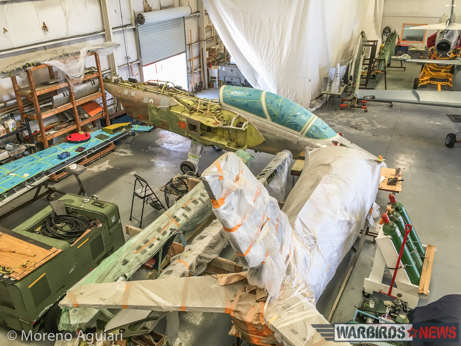 S.211 airframes awaiting rebuild at Classic Fighters of America. (photo by Moreno Aguiari)