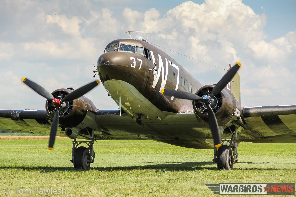 The National Warplane Museum's D-Day veteran C-47, 'Whiskey-7'. (Photo by Tom Pawlesh)
