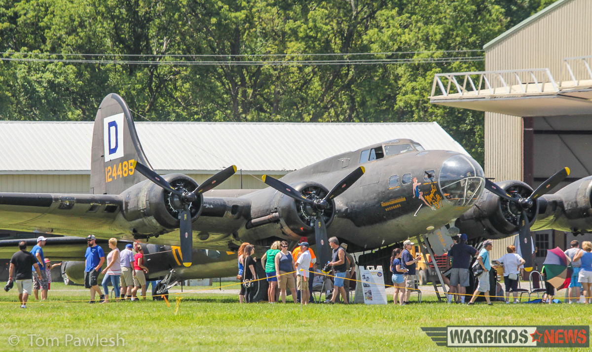The late David Tallichet's Boeing B-17G is on loan to the National Warplane Museum. Tallichet supported the museum over many years, and often brought this aircraft to the show during his lifetime. (Photo by Tom Pawlesh)