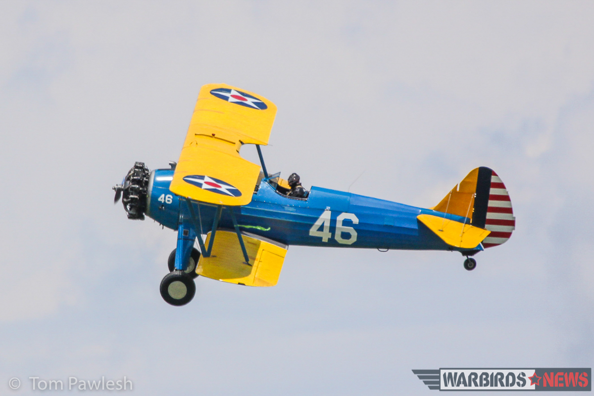 A Stearman strutting its stuff. (Photo by Tom Pawlesh)