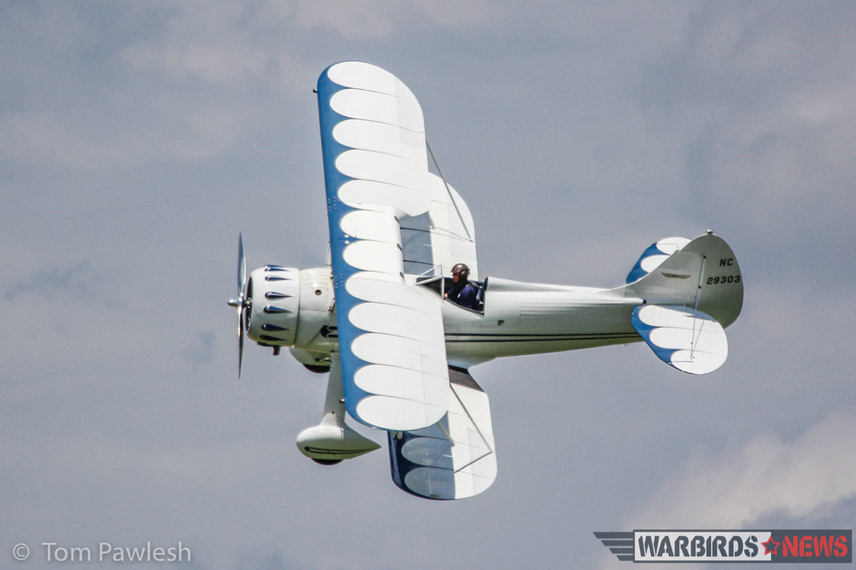The gorgeous 1940 Waco UPF-7 makes a photo-pass. (Photo by Tom Pawlesh)
