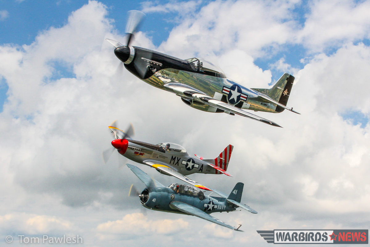 Quick Silver in close formation with Mad Max and the TBM. (Photo by Tom Pawlesh)