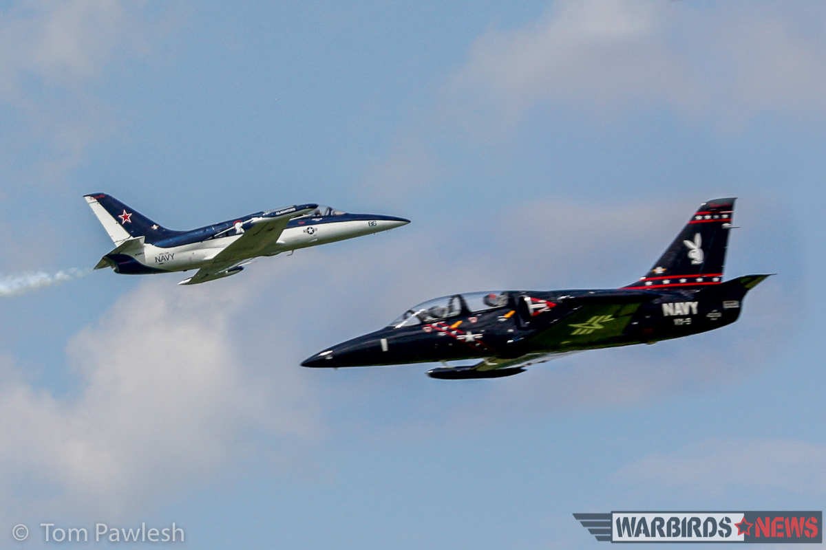 A pair of L-39s go head-to-head. (Photo by Tom Pawlesh)
