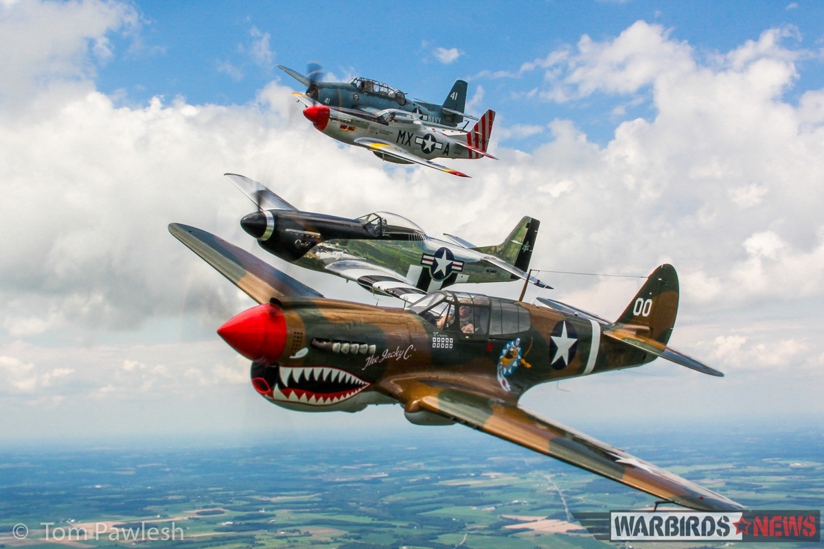 The Jacky C with Mustangs and Avenger to her rear. (Photo by Tom Pawlesh)