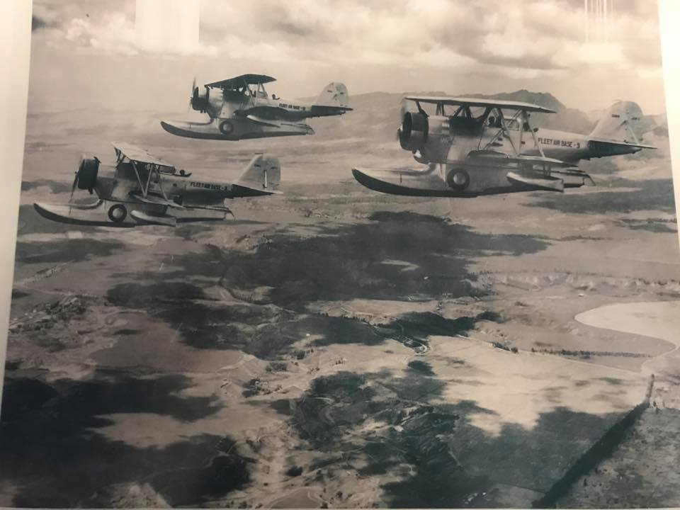 Another image reportedly showing the Duck in formation with other examples in Hawaii. (photo via Mid America Flight Museum)
