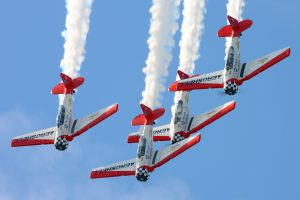 The Aeroshell Aerobatic Team has been performing for over 25 years, amassing thousands of hours in front of air show fans all over North America.