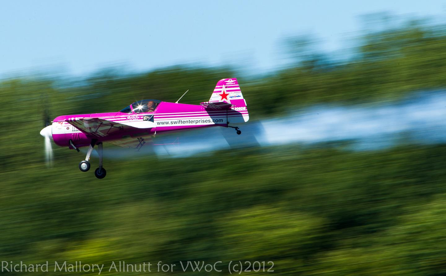 Rick Volker in his Sukhoi Su-26 at Vintage Wings of Canada's air show Wings Over Gatineau air show in Gatineau, Quebec during 2012. (photo by Richard Mallory Allnutt)