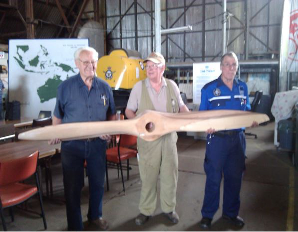 A newly refurbished propeller for the project. (photo via B-24 Liberator Memorial Fund)