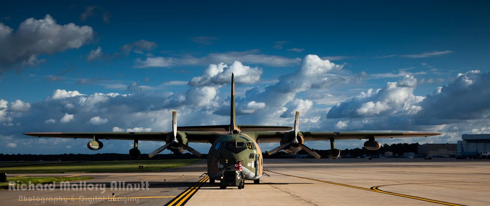 """Hopefully someday soon, 'Ponderous Polly' will be airborne again, and join  the only other C-123 on the air show circuit, the mighty """"Thunder Pig' seen here at Joint Base Andrews in 2012. (photo by Richard Mallory Allnutt)"""