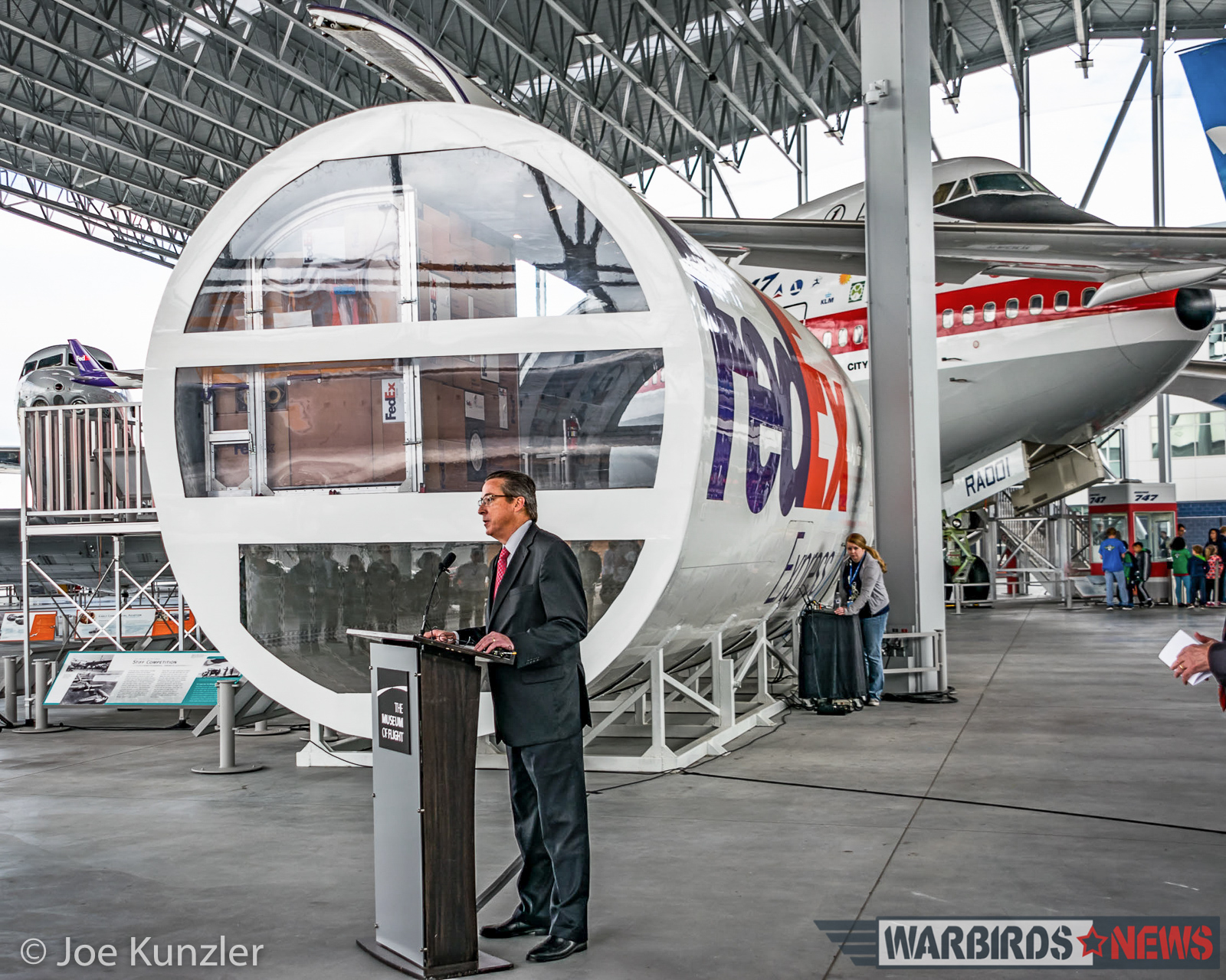 FedEx VP Phil Blum during the press conference. (photo by Joe Kunzler)