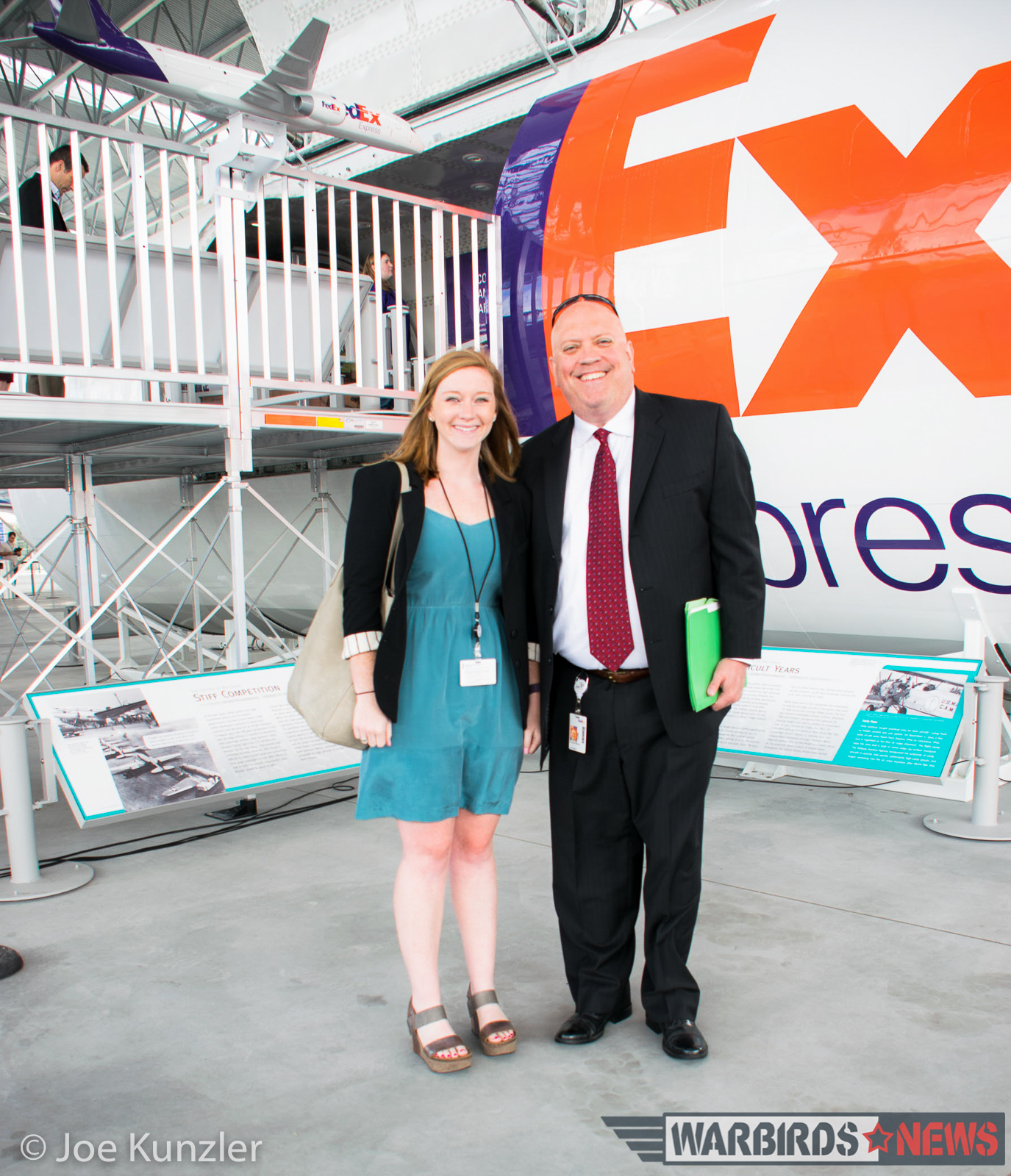 Mary K. Patterson and William M. Bielskis of FedEx Communications in front of their exhibit. (photo by Joe Kunzler)