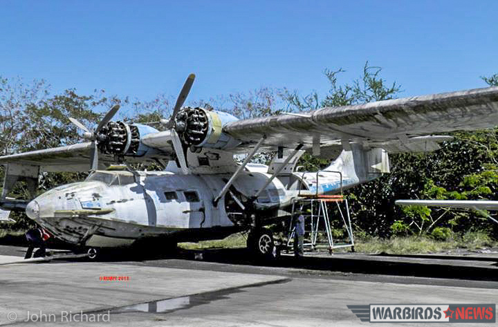 The PBY as she looked in Puerto Rico when the Rathmines Catalina Memorial Project Association acquired her in 2013. Half a work away now, in Australia, the organization has made great strides in resurrecting this ocean-going behemoth. (photo by John Richard)