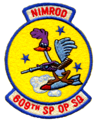 Squadron patch of the U.S. Air Force 609th Special Operations Squadron. ( Image via Wikipedia)