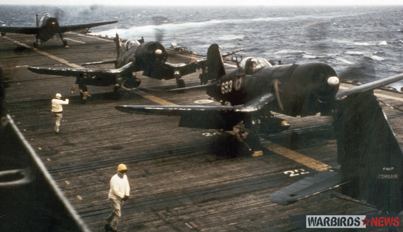 Bu.133693 during her Aeronavale days on the deck of a French aircraft carrier. (photo via Stephen Chapis)