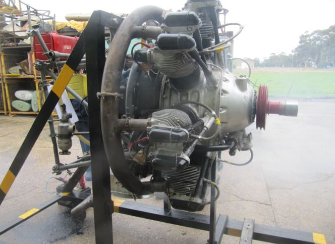 One of the project's two Armstrong Siddeley Cheetah engines has been restored to running condition. (photo via B-24 Liberator Memorial Fund)