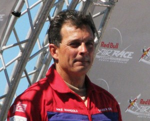 Mike Mangold, 2007 World Champion, Red Bull Air Race, Perth, Australian, 2007, receiving award.