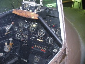 Gunsight and instrument panel from the D.520 on display at Le Bourget. ( Image credit Wikipedia user PpPachy)