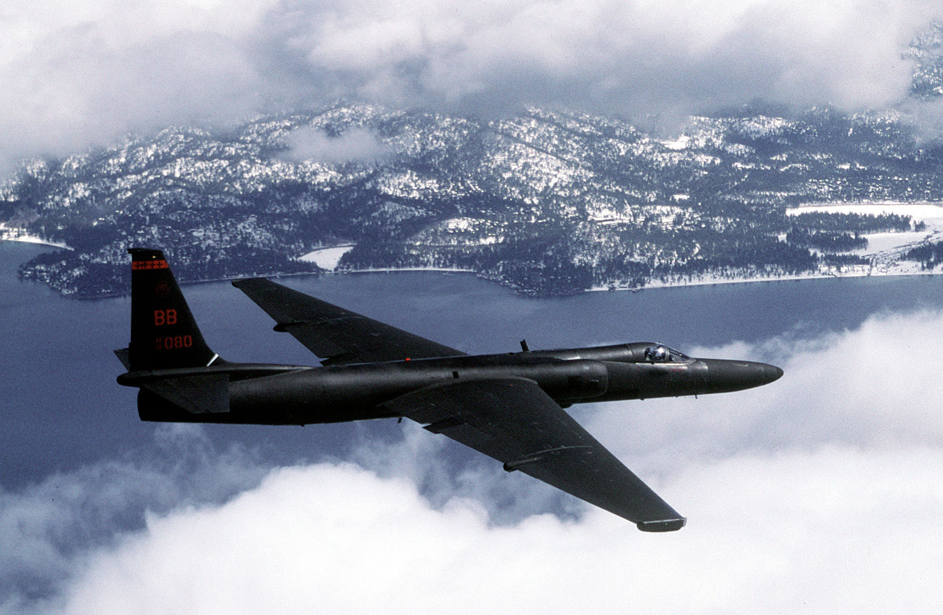 An Air Force U-2 flies a training mission. (U.S. Air Force Photo by Master Sgt. Rose Reynolds)