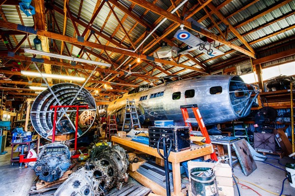 The restoration of B-17E 41-2595, underway at Marengo, Illinois ( Image Credit Richard Hed)
