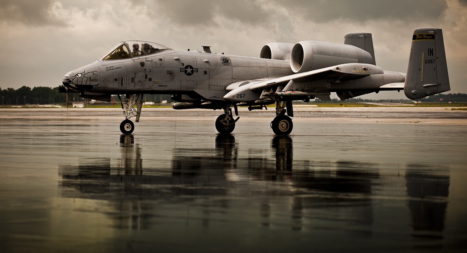 An A-10C of the 122nd FW will be in attendance at the show. (photo  by Staff Sgt. William Hopper via Wikipedia)