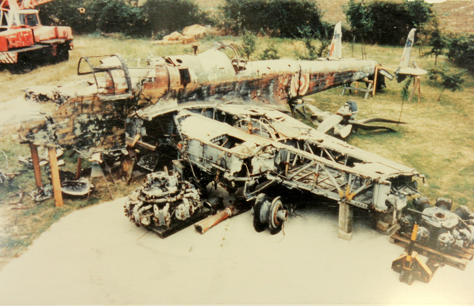 P1344 as she looked when laid out by Jeet Mahal for inspection by the RAF Museum in 1992. (photo by Peter R Arnold via RAF Museum)