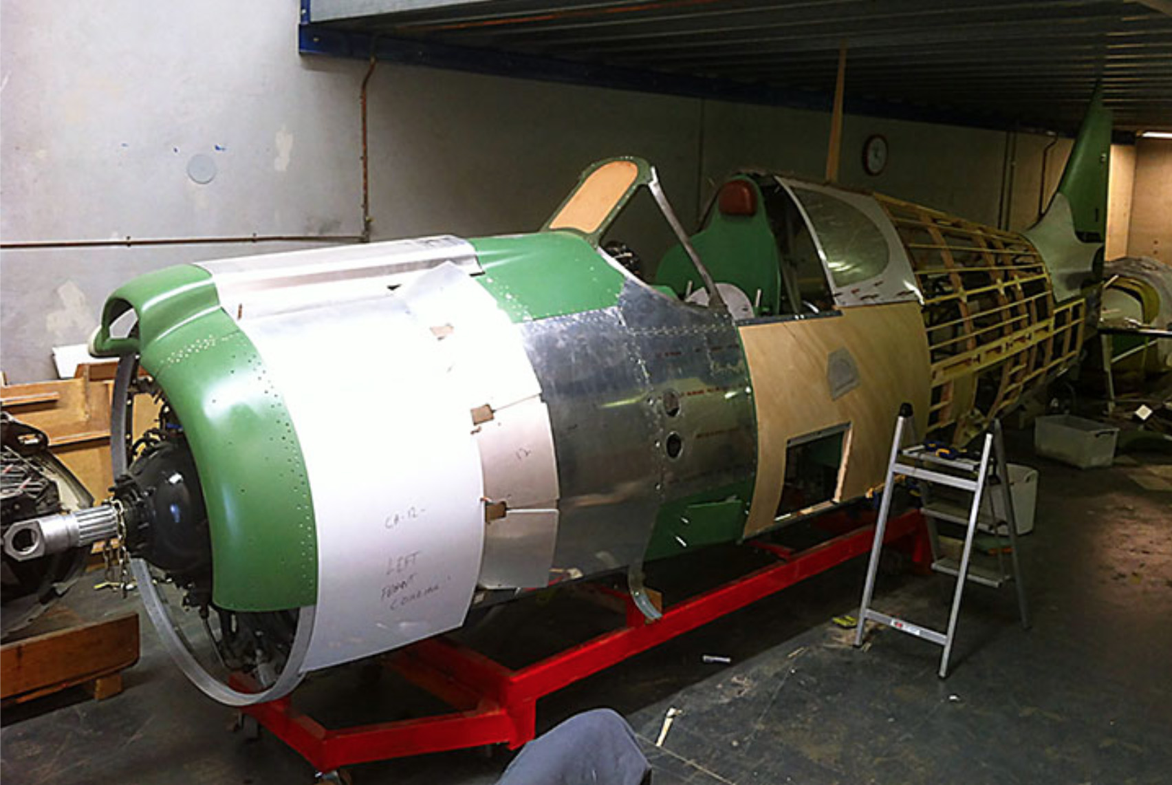 A46-90s fuselage following restoration. (photo by John Parker)