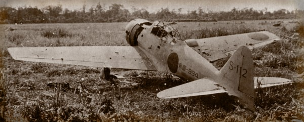 A6M3 Zero 3148 on the battle field during WWII (image via Ron Cole)