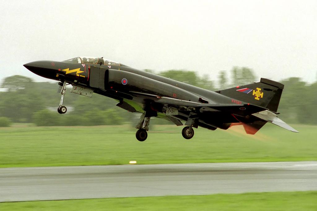 "RAF McDonnell Douglas Phantom II nicknamed ""Black Mike"""