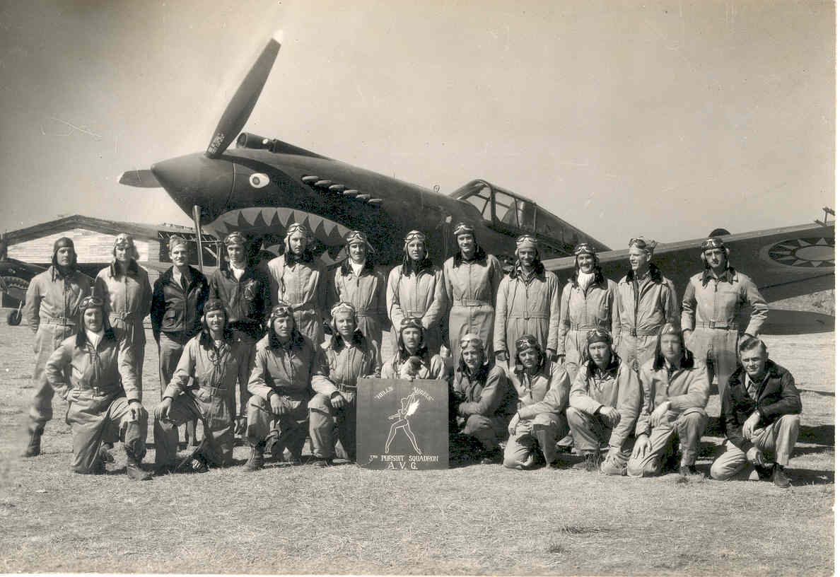"AVG Flying Tigers 3rd Squadron ""Hells Angels"" - Photo via AVG Association"