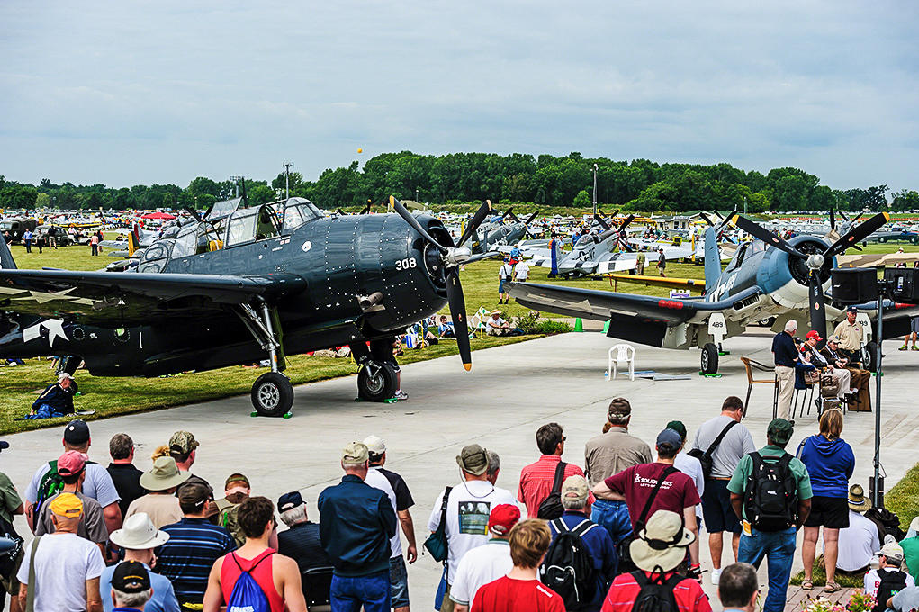Some of Texas Flying Legends Museum's aircraft on Warbird Alley. (photo by Jake Peterson)