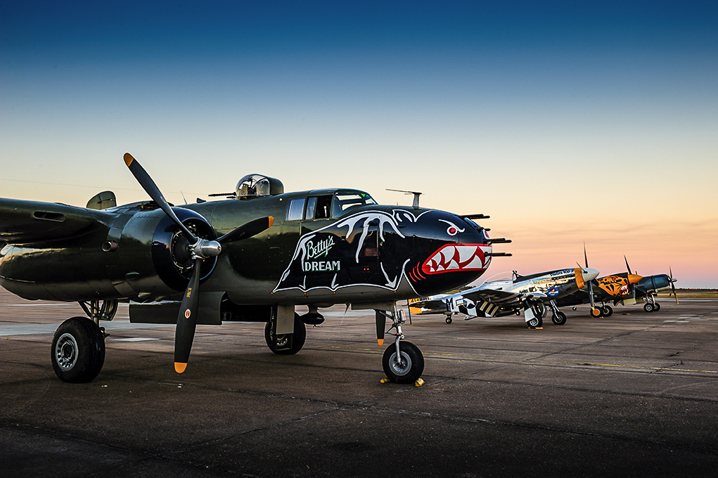 The heart of the Texas Flying Legends fleet of aircraft will be heading to Oshkosh, Wisconsin in a few days to take part in EAA AirVenture Oshkosh 2015. (photo by Jake Peterson)
