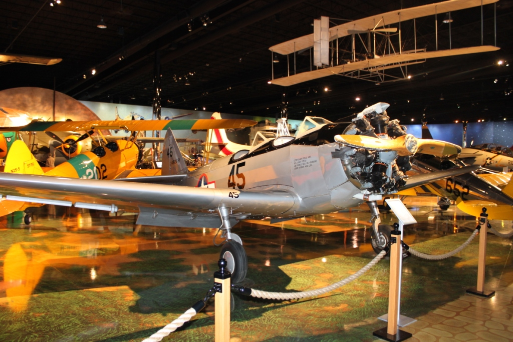 The Fairchild PT-23 now on display at the Air Zoo in Kalamazoo. (Image by Jay Bess).