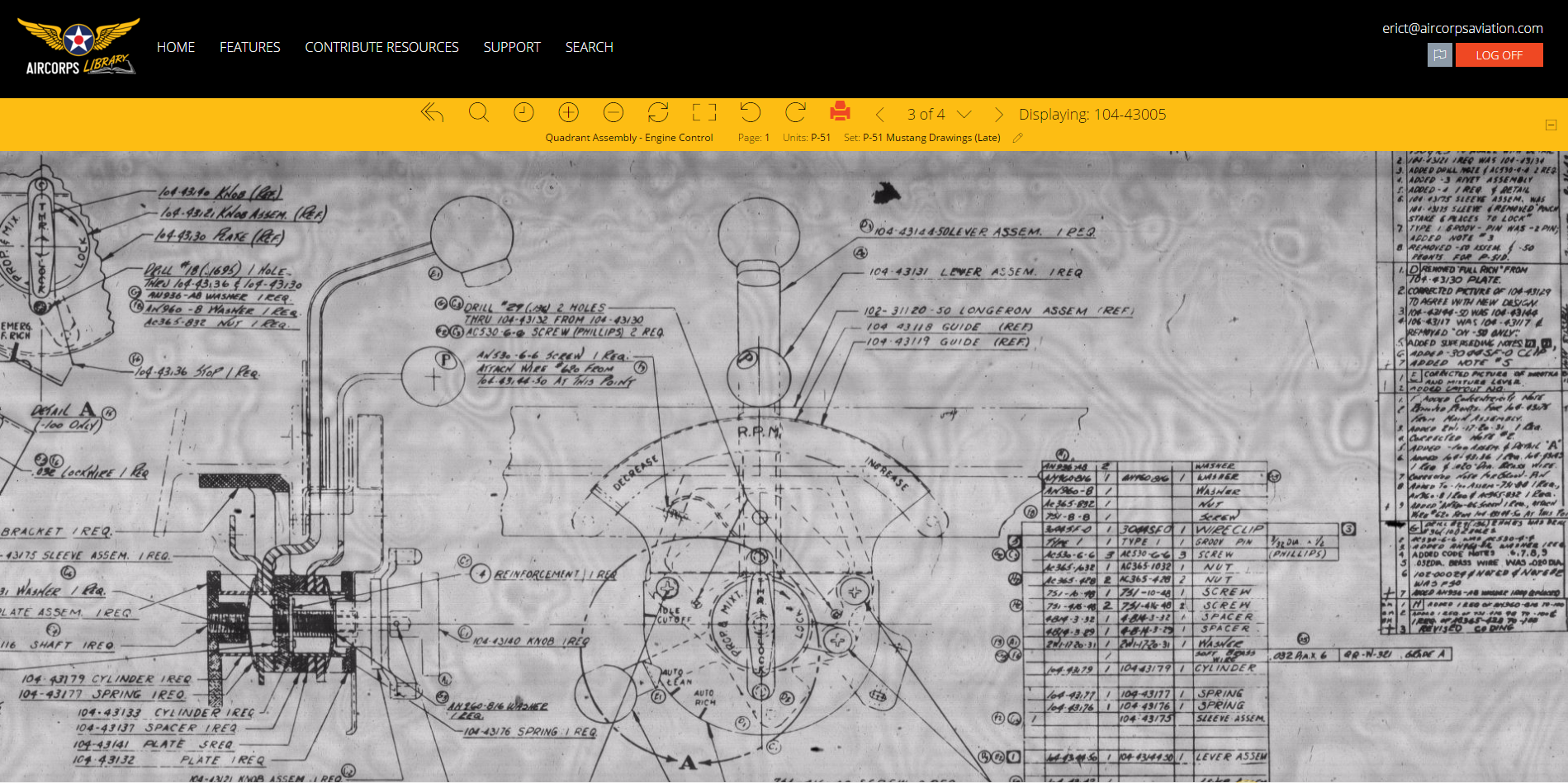 AirCorps Library Released! 500,000+ searchable online microfilm drawings & manuals now live.