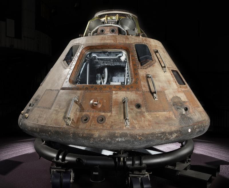 The Apollo 11 command module Columbia. Photo courtesy Smithsonian National Air and Space Museum.