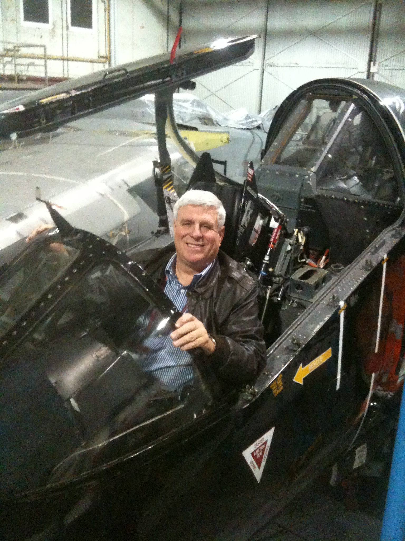 Art Nalls in the cockpit of his newly acquired Harrier. (photo via Art Nalls)