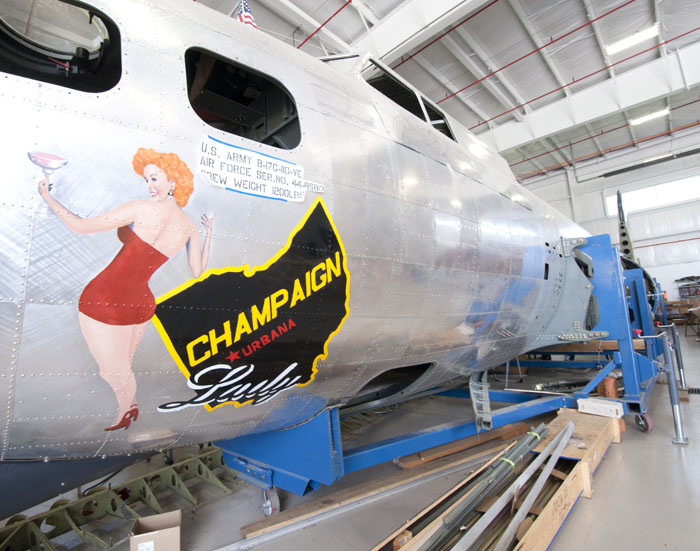 Champaign Aviation Museum's B-17 Champaign Lady (Image Credit: Champaign Aviation Museum)