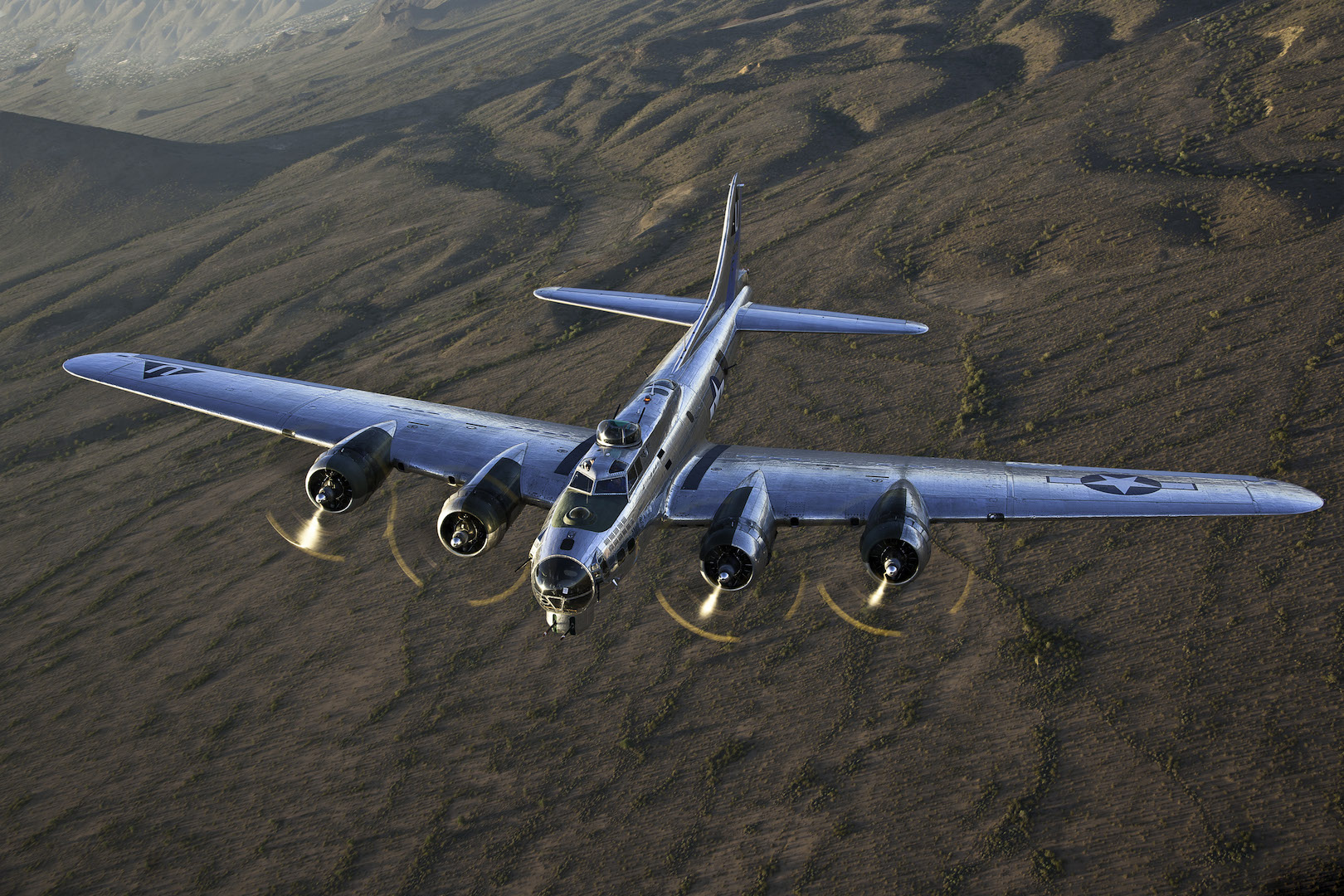 """CAF Arizona Airbase B-17  """"Sentimental Journey photographed by by Jay Beckman."""