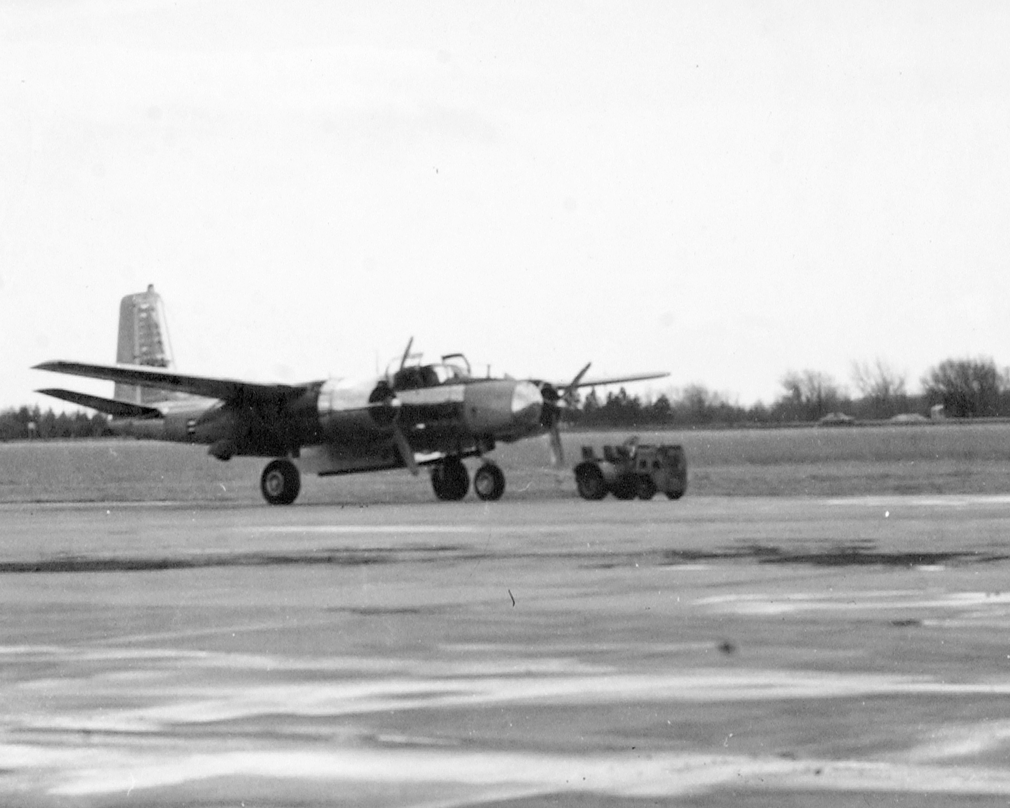 "B-26 ""Invader"" flown from 1947 - 1951"